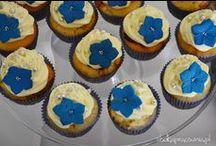 slodkapracownia.pl ślubne realizacje / Cupcakes na wesela i śluby, babeczkowe winietki, pudełeczka z podziękowaniami dla gości oraz cupcakeowe torty!