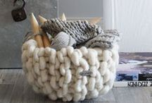 chunky - knit - blanket