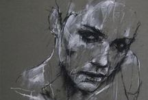 Drawings, charcoal, ink, illustrations, pastel - Vol. 3
