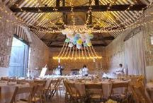 Our Canopies // Gathered / Examples of our gathered canopies - single gather and double gathered for barns with even numbers of beams. Gathered canopies work well with chandeliers. Elegant and dramatic wedding lighting. All the pins here show our own lighting. Some images were captured by talented professional photographers - click through to see their blog posts.