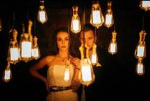 Inspiration // Edison Bare Bulb Canopies / Inspiring images of how to use classic filament bulbs