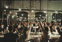 Inspiration // Industrial & Modern Wedding Lighting / Inspiring images of wedding lights in  industrial and modern settings including loft and warehouse wedding style.