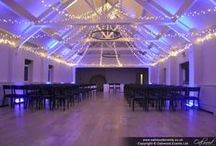 Our Work // Stoke Place / Wedding lighting at the beautiful Balloom and Lakeside at Stoke Place. All the pins here show our own lighting. Some images were captured by talented professional photographers - click through to see their blog posts.
