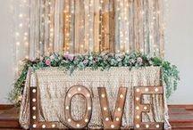 Inspiration // Wedding Backdrops / A collection of inspiring wedding back drop ideas!