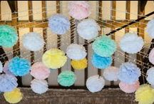Wedding Inspiration // Pastel Weddings / Lighting and decor elements for weddings with a pastel colour scheme