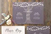 Inspiration // Light Themed Wedding Stationery / Ideas for wedding stationery with a lighting theme! Fairy lights, festoons and chandeliers. Gorgeous.