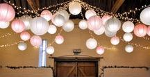 Our Work // Star and Lanterns at Ufton Court / Examples of some of the fabulous lantern colours we can supply at Ufton Court on our star and lanterns canopy.