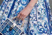 Blue Majolica / Blue Majolica, Dolce & Gabbana Autumn/Winter 2016 Collection. h-a-l-e.com Summer Fashion | Blue Tile | Mediterranean