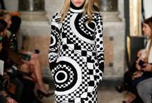 Game On / Bold, graphic black & white looks were revived this year on the Fall Runways. Fall Fashion Must-Haves, Game On, h-a-l-e.com
