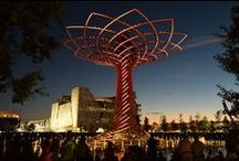 The Tree of Life. The colours of Expo Milan 2015 / The Tree of Life has been called Expo's Eiffel Tower because it is the tallest construction on the site and the symbol of the Universal Exposition.