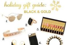 Holiday Gift Guide: Black & Gold / Holiday Gift Guide: Black & Gold on h-a-l-e.com. Unique gift ideas in Black & Gold.