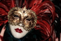 . Mysterious Masquerade . / Covering the face in order to disguise