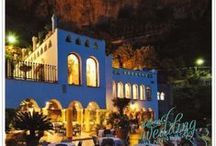 Grand Hotel on the rocks - Amalfi / This is your venue if you like historical details, pastel colors for indoor halls and the breathtaking views! You will definitely fall in love!