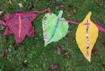 Botanical Bunting / We're creating leaf shaped bunting to adorn the garden at St Stephen's Church. Bristol old city.