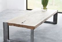Mitt - Furniture - Tables - Salontafels / De stoere industriële salontafel van Mitt is een echte eyecatcher, een perfecte aanvulling op elk interieur en bovendien is elk exemplaar handgemaakt en dus uniek. Daarbij is een salontafel wellicht het meest ideale meubelstuk om af te stylen. Het stoere eikenblad met een stalen frame leent zich hier uitstekend voor. Op maat te bestellen @ info@mittlifestyle.com