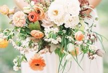 Wide, wild and wonderful / The key trend for wedding hand tied bouquets in 2016 with a wider, freer, asymmetric shape, lots of foliage and casually placed blooms. A favourite style with creations from Darling Buds of Sussex.