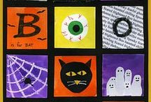 Boo! / Spook-tacular Halloween arts & crafts ideas for kids. Pumpkin decorations, how to draw a pumpkin, spooky spider crafts and many other art projects or craft projects for Halloween.