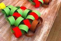 Christmas - Ho Ho Ho! / Christmas arts and crafts for kids. Make your own ornaments, santa and Christmas trees. All things festive and creative to celebrate Christmas with kids.