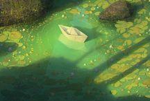 illustration / fantasy landscapes