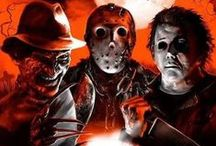 It's a horror geek thing / All things horror!  horror movie scary Michael Myers Jason Leatherface Freddy Film   / by Tyler Gray