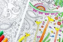 Colouring pages printables ~ pictures to color. colour in / Simple designs to colour in. Simply print out and colour. Patterns and mosaics to print and colour or use as a pattern.
