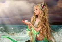 Mermaids and Mechanicals / Inspiration board for Melanie Karsak's Steampunk Fairy Tale retelling of The Little Mermaid.