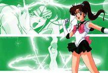 Sailor Moon | Sailor Jupiter / Ricordi di bambina raccolti in questa bacheca legata al mio cartone animato preferito