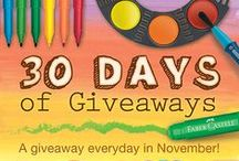 30 Days of Giveaway / A Giveaway everyday in November! Win gel crayons, beeswax crayons, and other fantastic Faber-Castell Premium Children's Art Products.