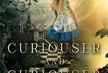 Curiouser and Curiouser / Inspiration board for Melanie Karsak's Curiouser and Curiouser: Steampunk Alice in Wonderland, http://amzn.to/2zM3Anv