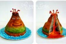 Mes gâteaux personnalisés / Mes gâteaux décorés (soit avec de la pâte à sucre, soit avec de la pâte d'amande)