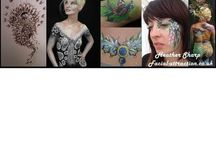 Heather sharp-face and body artist commissioned for parties events festivals / www.facial-attraction.co.uk award winning  Heather sharp #Parties, #weddings, #hen nights #festivals , events, Photo shoots Worldwide travel!  #hertfordshire #facepainter #facepainting
