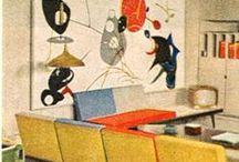 Mid Century Interior & Furniture / atomic industrial design 1950's