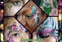 Facepainting #facepainting / Www.facial-attraction.co.uk #facepainter Award winning artist  Book now for events or parties #leavesdon #harrypotter