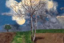 L arbre a nuages / Peinture acrylique