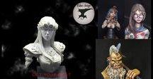 "Trio on Kickstarter / My campaign on Kickstarter, Trio, a bust set in resin cast inspired to ""the legend of Zelda"""
