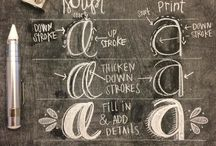 Chalkboard Lettering / Collection of chalkboard lettering. #chalk #chalkboard #chalk typography