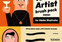 Adobe Illustrator Brushes / A collection of brushes for Adobe Illustrator. Follow my board to stay informed about latest premium or free brushes for Adobe Illustrator. Vector brushes rulez!