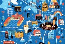 Illustrated Maps / The Collection of illustrated maps of the cities and countries. The art of hand-drawn maps is fascinating, so follow the board if you are looking for inspiration from top illustrators.