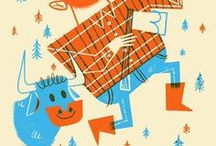 Modern Retro Illustrations / Contemporary Illustrations with the retro feeling.