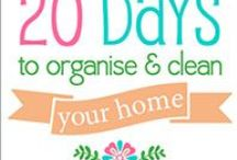 20 Days to Organise and Clean Your Home Challenge / From: The Organised Housewife