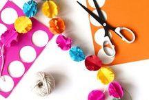 DIY - Guirlandes / Facile à accrocher, changer, recommencer, les guirlandes on les aime avec des couleurs ou à paillette en tissu ou en papier!