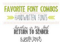Typographie / Jolies idées pour projets ambitieux !