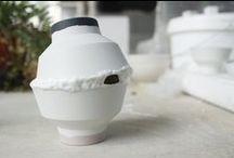 White ceramic / Ceramics shades of white