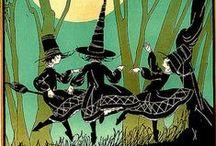 An Art Nouveau/Art Deco Halloween / Nouveau and Deco Halloween and Autumn themed stuff.