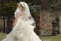 wedding dress / プリンセスライン+ふわふわアシンメトリーが好きなのでその辺が多い