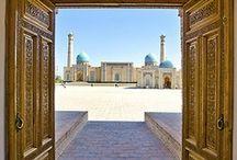 Uzbekistan / Il territorio uzbeko, autentico tesoro, cuore dell'Asia Centrale, offre magnifici percorsi alla scoperta di quelli che erano i leggendari panorami attraversati percorrendo la storica Via della Seta. La natura selvaggia fatta di bacini, pianure desertiche e oasi accanto alle montagne del Pamir, si alterna a splendidi esempi di architettura islamica millenaria nelle città di Bukhara, Khiva e Samarcanda.