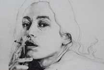 Class / Some pics and draws that inspired me with this human anotomy work at the drawing class