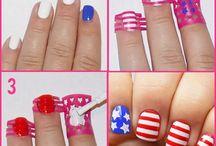Nail Art / Nail vinyls..chevron nails, striped nails, anchors, hearts, wavy nails and more