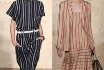 Stripes: Trend Forecast S/S 15 / This board is a compilation of images of a possible trend that has transpired across various fashion shows during NYFW, PFW, LFW and WLIFW S/S 15.