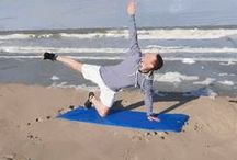 workout on the beach / eight exercises at sea